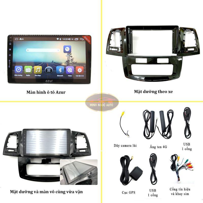 Bộ sản phẩm màn hình Android Azur cho xe ToyotaCAMRY 2003 - 2007