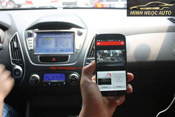 camera hành trình kết nối với điện thoại