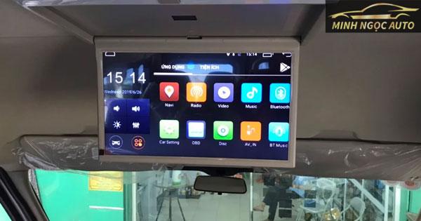 Lắp màn hình android cho oto
