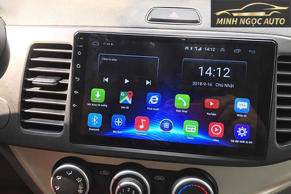 màn hình Android cho xe Kia Morning