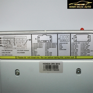 Màn hình DVD xe Honda CRV của Fujitsu 6